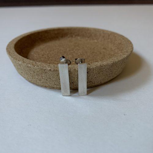 zilveren straight lines #2 oorbellen
