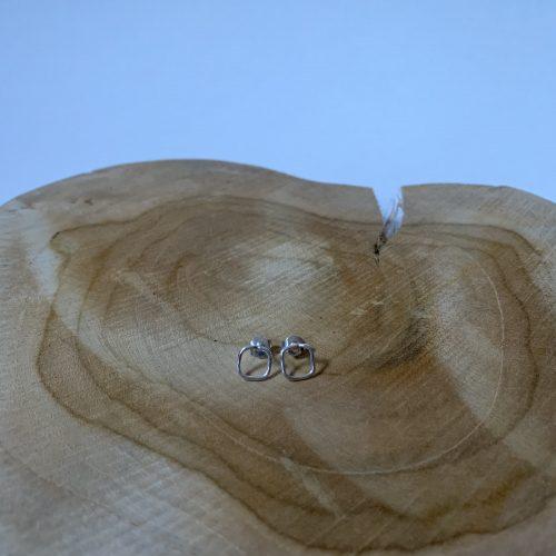 zilveren squares oorbellen